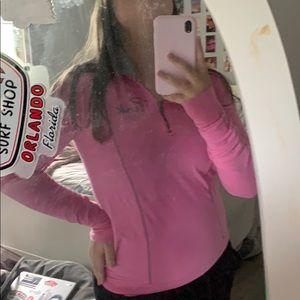 light pink Pink quarter zip jacket! Super cute!
